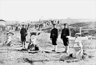 Exécution de Coréens par les Japonais à Tam-Yang, en Corée (1907)
