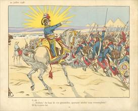 Livre pour enfant : la bataille des Pyramides de Gizeh