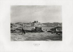 Vue de Tunis vers 1840