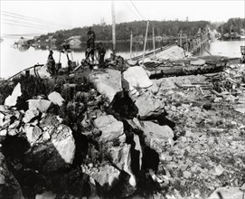 Construction du National Transcontinental Railway, 1914