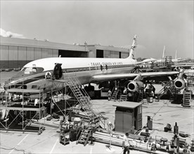 Construction du Douglas DC-8 en 1958