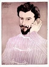 Ouvré, Portrait de Maurice Ravel en pyjama
