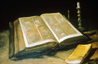 Van Gogh, Nature morte à la Bible ouverte