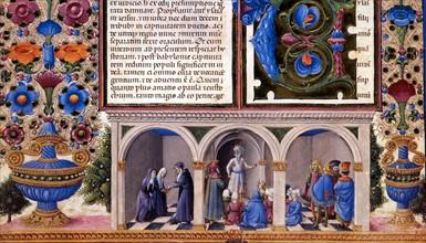 Bible de Borso d'Este, Prologue du Livre des Prophètes (détail)