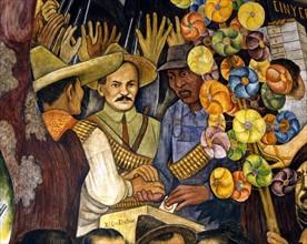 Rivera, Rêve d'une après-midi dominicale à l'Alameda Central (détail)