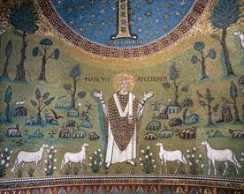 Basilique Sant'Apollinare in Classe à Ravenne, mosaïque de l'abside