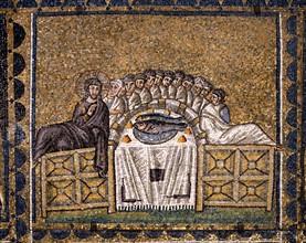 Basilique Sant'Apollinare Nuovo à Ravenne : La dernière Cène