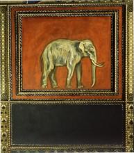 Décoration du Salon de musique de la Villa Stuck à Munich : éléphant