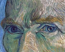 Van Gogh, Portrait de l'artiste (détail)