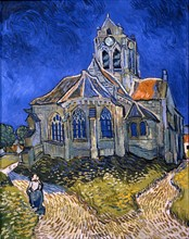 Van Gogh, L'église d'Auvers-sur-Oise, vue du chevet