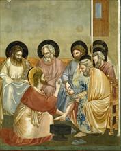 Giotto, Le Lavement des pieds (détail)