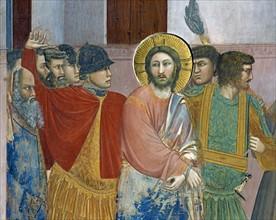 Giotto, Le Christ devant Caïphe (détail)