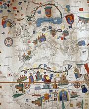 Copie de la carte de Juan de La Cosa (détail)