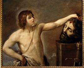 Guido Reni, David contemple la tête décapitée de Goliath