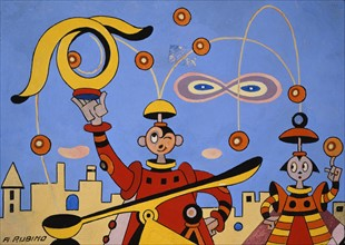 Antonio Rubino, Figures spatiales
