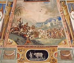 Plafond de l'Armurerie à la Galerie des Offices à Florence (détail)