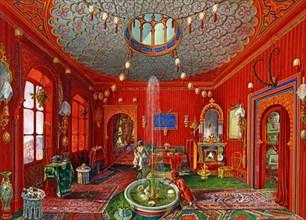 Germano Prosdocimi, Salon oriental de la Villa Lazarovich à Trieste