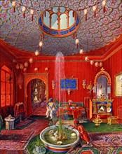 Germano Prosdocimi, Salon oriental de la Villa Lazarovich à Trieste (détail)