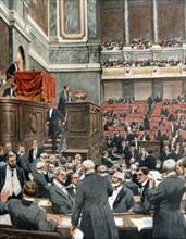 Assemblée nationale réunie à Versailles pour l'élection du nouveau président de la République française: Raymond Poincaré (1913)