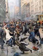 La révolte des couturières à New York pour améliorer l'emploi et les conditions de travail (1913)