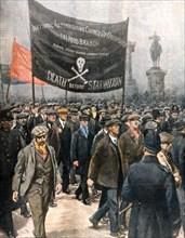 Les marcheurs de la faim. Manifestation à Londres (1922)