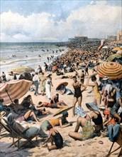Affluence sur les plages australiennes à Noël 1939