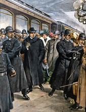 Le musicien italien Pietro Mascagni arrive à New York en Amérique (1902)