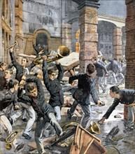 Révolte des garçons de la maison de correction Marchiondi à Milan, agression et destruction des ateliers (1903)