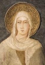 Simone Martini, Sainte Claire (détail)
