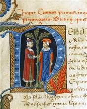 Lettrine illustrant le chant I de l'Enfer de la Divine Comédie de Dante