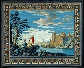 Baseggio, Paysage fantastique. Vue idéale avec forteresse et pêcheurs sur les rochers