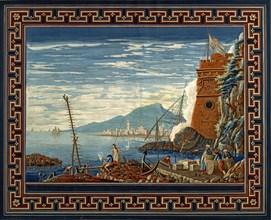 Baseggio, Paysage marin avec port et calfeutreurs au travail