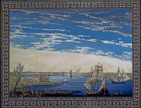 Baseggio, Vue de la ville et de la forteresse de Caffa en Crimée, sur la mer Noire