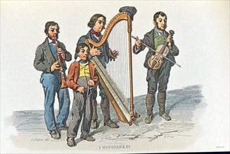 Petit métier de Naples : les Viggianesi, musiciens itinérants