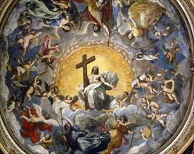 Coupole de la cathédrale de Ravenne, peinte par Guido Reni