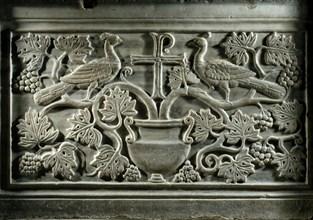 Panneau décoratif du chancel de la basilique San Apollinare Nuovo à Ravenne (détail)