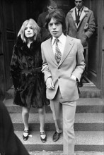 Mick Jagger et Marainne Faithfull