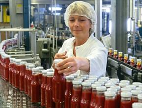 Usine de fabrication de ketchup en Allemagne