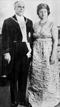 Habib Bourguiba et sa femme Wassila Bourguiba, 1960