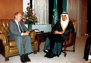 Richard Cheney et Fahd Ibn Adb Al Asis, 1990