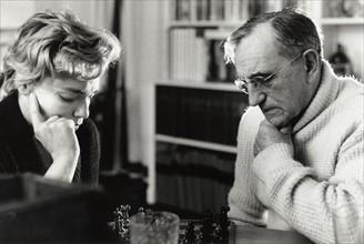 Simone Signoret et Charles Vanel