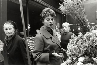 Sophia Loren, à Paris (15 novembre 1958)