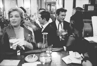 Simone Signoret et François Truffaut  (1959)