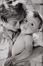 Françoise Sagan et son fils Denis Westhoff