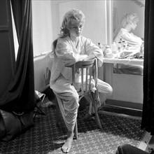 """Brigitte Bardot sur le tournage de """"La mariée est trop belle"""""""