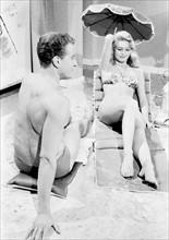 """Brigitte Bardot et Roger Dumas sur le tournage de """"La mariée est trop belle"""""""