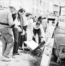 Bernard Buffet sur le port de Saint-Tropez, 1958