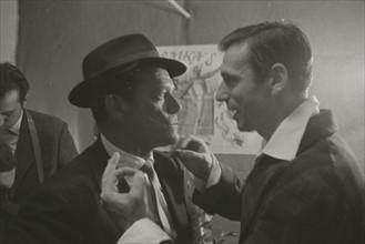Yves Montand et Eddie Constantine (1958)