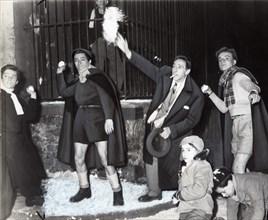 Cocteau et Jean-Pierre Melville à Condorcet, 1950