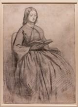 """Rossetti, """"Elizabeth Siddal sitting on a chair"""""""